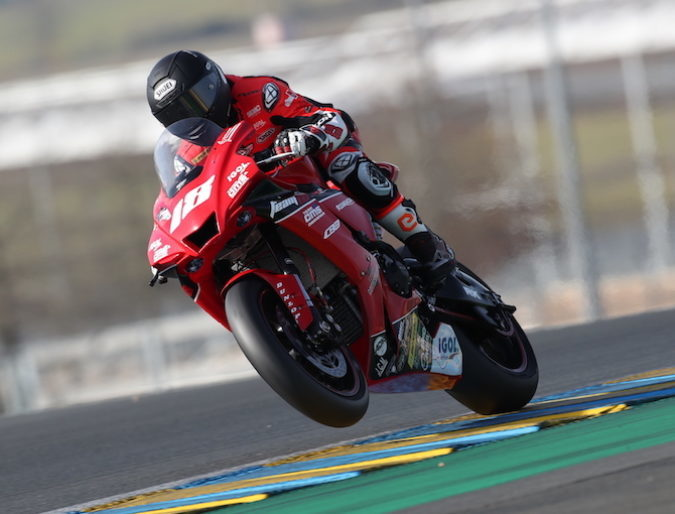 24 hours of Le Mans test rides validated for Team 18 Sapeurs-Pompiers CMS Motostore !