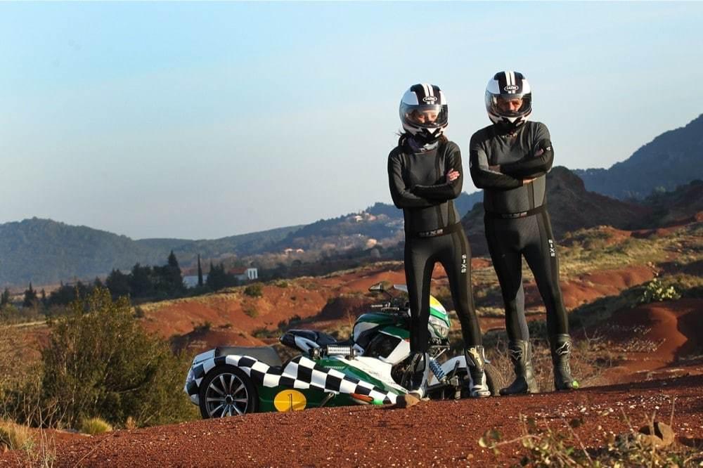 Bruno et Diana du Team les Marluches utilisent les sous-vêtements SIXS distribués par Nova Moto