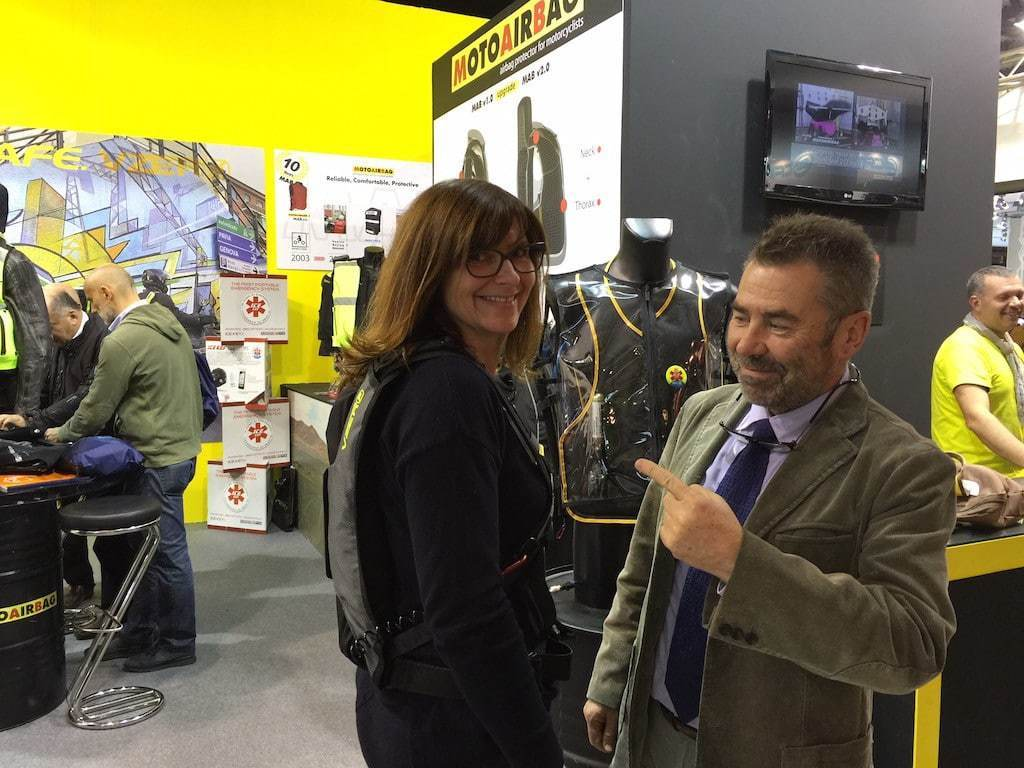 Essai nouvelle version Vzero de Motoairbag avec Francesco Funaioli