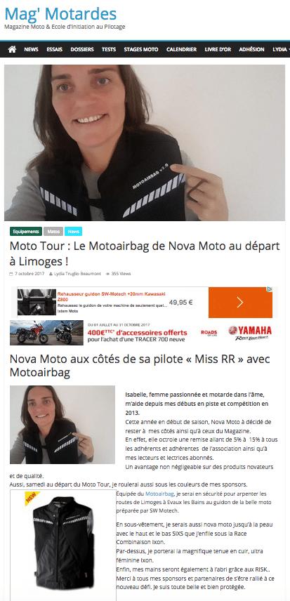 nova-moto-presse-lydia-truglio-beaumont-mag'motardes